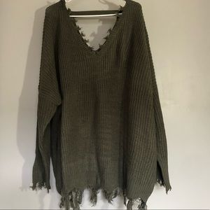 NWT Rue 21 Olive Green Sweater